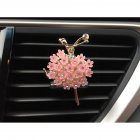 Car Air Vent Decoration Car Interior Decoration Rhinestone Ballet Girl Car Air Freshener Clip with Fragrance Cotton Pads  Pink