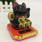 Car Automotive Creative Interior Decorations Solar Powered Lucky Cat Ornaments 8cm