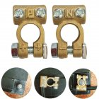 Car Battery Terminals Clamps Pair Screw Connection Positive Negative Brass Cables Connectors Accessories  copper