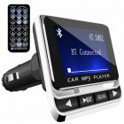 Car Bluetooth FM Transmitter with USB Charger & Remote Control Hands-Free Call As shown
