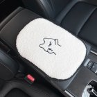 Car Cartoon Lamb Wool Seat Cushion Car  Cute Backrest Comfortable Soft Breathable Seat Armrest Cushion  Piggy armrest pad