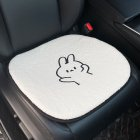 Car Cartoon Lamb Wool Seat Cushion Car  Cute Backrest Comfortable Soft Breathable Seat Armrest Cushion  Bunny front cushion