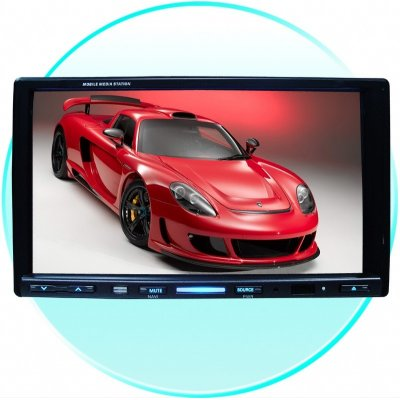 7 Inch Touch Screen Car DVD Player With RDS