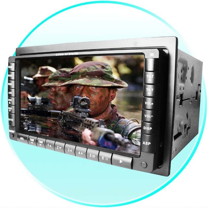 Car DVD Player 2-Din - 6.5 Inch TFT + MP4 Connection