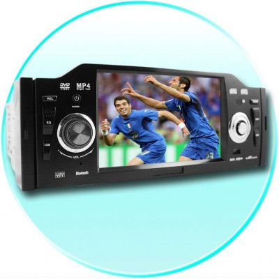Single Din Car DVD Player - 4.2 Inch TFT LCD Display + Bluetooth