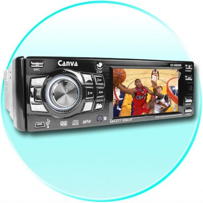 1 Din Car DVD Player - 3.6 Inch TFT LCD Display