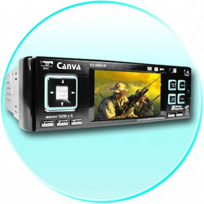 3.6 Inch TFT Display Car DVD Player - Detachable Panel
