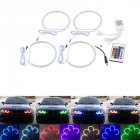 Car Daytime running light kit For BMW E36/E38/E39/E46 Multi-Color 5050 RGB Flash SMD Led Angel Eyes Halo Ring Seven colors