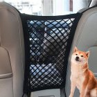 Car Dog Pet Barrier Guard Back Seat Safety Protector Mesh Net for SUV Truck black