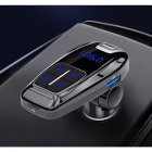 Car FM Transmitter Bluetooth Handsfree MP3 Player PD 3.0 USB Charger MP3 Music Player Mobile Phones black