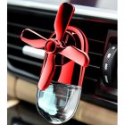 Car Fan Design Air Freshener Car Delicate Mini Conditioning Vent Outlet Perfume Clip Red - fruity