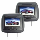 Car Headrest DVD player system with a high quality leather exterior and a super large 7 inch LCD display for letting passengers in the back enjoy