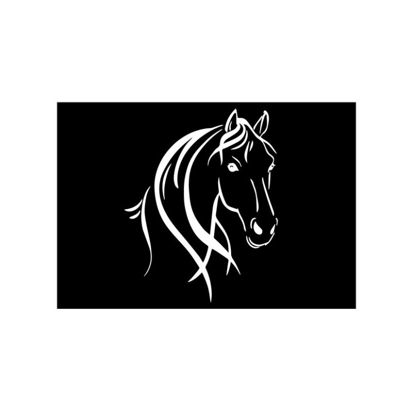 Car Horse Head and Mane Decal Sticker Car Styling Decoration White