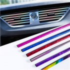 Car Interior Air Conditioner Outlet Vent Grille Strips Decoration U Shape Interior Moulding Trim Strips Plating silver (10pcs)