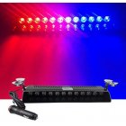 Car LED Emergency Strobe Flash Warning Light DC 12V 12 LED 12W Flashing Lights Red blue