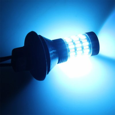 Car Lighting T20 7440 4014 60 High Power Led Bulb Daytime Running Turn Signal Lamp 7440t20 Two Color Ice Blue Turn Yellow One