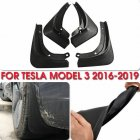 Car Modified Wheel Front Rear Tire Fenders Car Mudguard for Tesla MODEL3 2016-2019 black