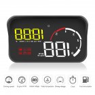 Car OBD2 Hud Head Up Display Digital Speedometer HUD Windshield Projector Yellow and white