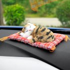 Car Ornaments Cute Simulation Sleeping Cats Decoration Automobiles Lovely Plush Kittens Doll Toy Sleeping cat A