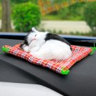 Car Ornaments Cute Simulation Sleeping Cats Decoration Automobiles Lovely Plush Kittens Doll Toy Sleeping cat D