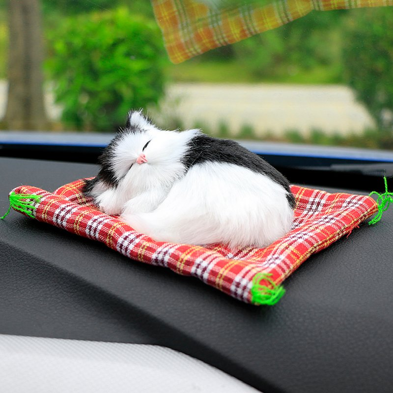 Car Plush Kittens Doll Toy Decoration
