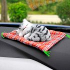 Car Ornaments Cute Simulation Sleeping Cats Decoration Automobiles Lovely Plush Kittens Doll Toy Sleeping cat F