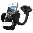 Car Phone Mount 360° Rotatable Cell Phone Holder Car Air Vent Bracket Dashboard Support Windshield Mount Adjustable Angle for Car Navigation  black