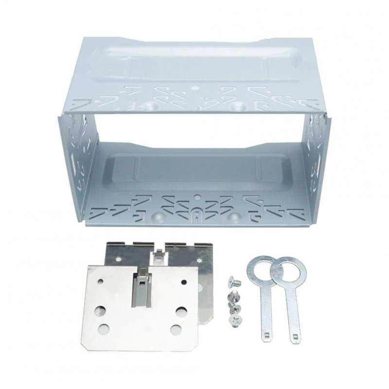 Car Radio 2DIN Installation Metal Cage Kits Brackets/Screws/Keys for Volkswagen Series Jetta Chico Golf Silver