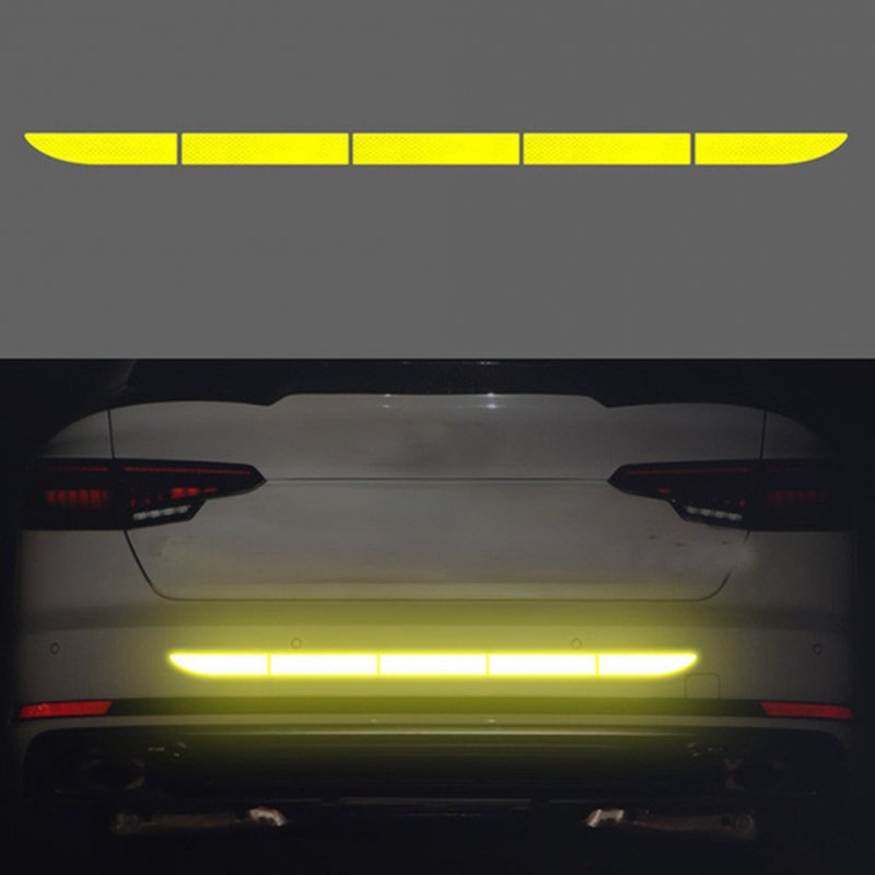 Car Reflective Sticker Warning Strip Tape Protective Car Sticker Warn on Car Body Trunk Exterior Fluorescent yellow