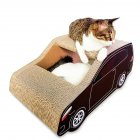 Car Shape Corrugated Paper Catnip Scratch Climbing Board Pet Cat Nest Toy As shown