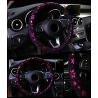 Car Steering Wheel Cover Shiny Snowflake Anti-slip for 37-38CM Car Steering-Wheel purple_38cm