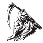 Car Sticker Grim Reaper Skull Pattern Decal Machine Car Truck Wall Window Vinyl Sticker black