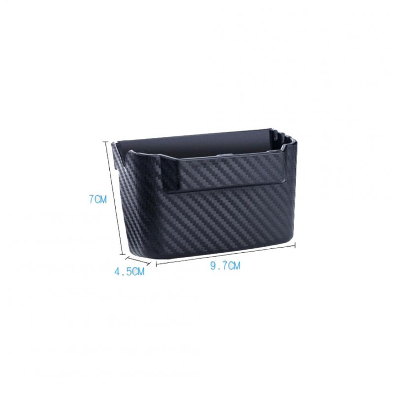 Car Storage Box Carbon Fiber Lines Stowing Tidying Multi-function car Organizer Storage Boxes Bag Container Phone Holder small