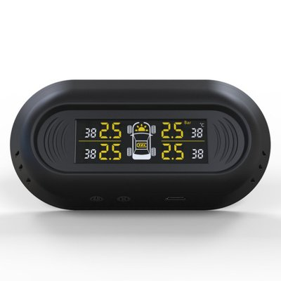 Car Tire Pressure Monitoring System Black