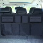 Car Trunk Organizer Adjustable Backseat Storage Bag Automobile Seat Back Organizers Upgraded black  with storage bag