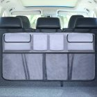 Car Trunk Organizer Adjustable Backseat Storage Bag Automobile Seat Back Organizers Upgraded gray (with storage bag)