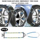 Car Tyre Winter Roadway Safety Tire Snow Adjustable Anti-skid Safety Double Snap Skid Wheel Chains Photo Color