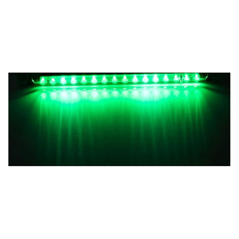 Car Warning Light 14 LED Solar Power Auto Car Emergency Warning Strobe Light Lamp green