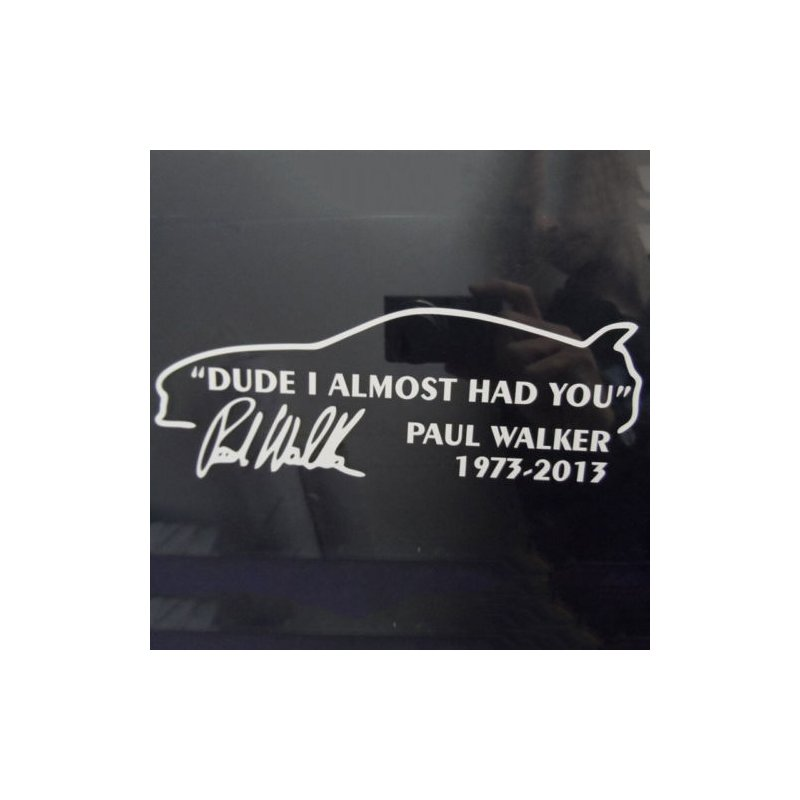 Car Window JDM DUDE I ALMOST HAD YOU Letters Pattern Sticker Decoration