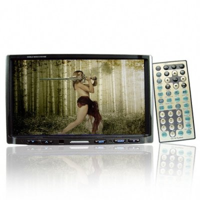 In-Car 7 Inch TFT LCD DVD Mobile Media Station - DVB-T Tuner