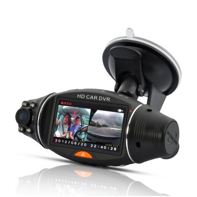 Dual Camera GPS Car DVR with 2.7 Inch Screen
