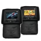 Pair 7 Inch Car Headrest DVD Player