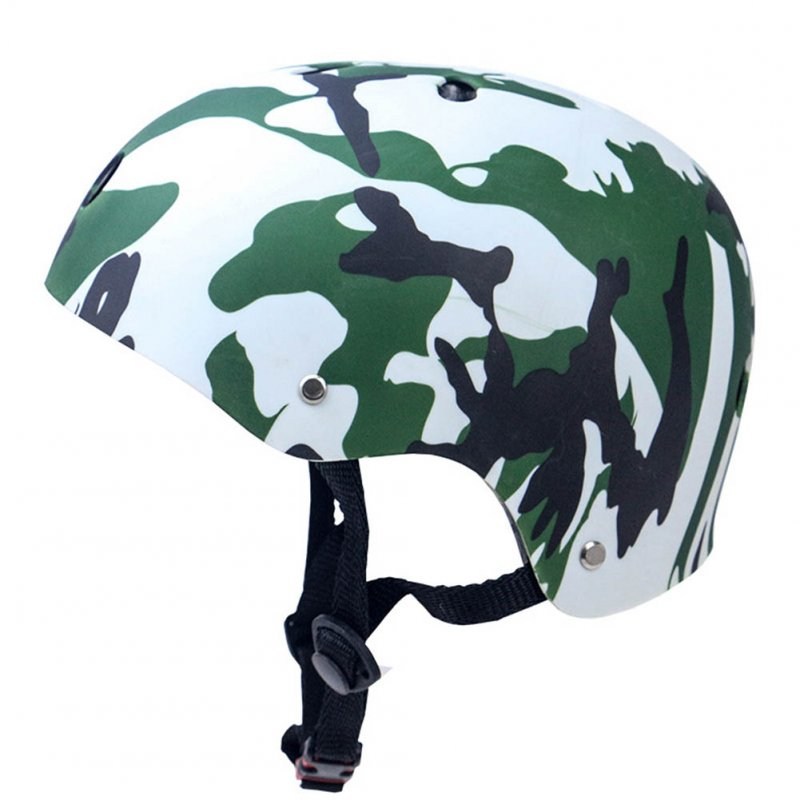 Skate Scooter Helmet Skateboard Skating Bike Crash Protective Safety Universal Cycling Helmet CE Certification Exquisite Applique Style Camouflage_L