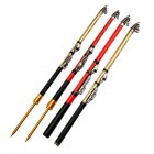 Carbon Fiber Fishing Rod Telescopic Rock Fishing Rod Surf Spinning Rod MINI Fishing pole Red strip plug_3.0