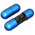 V8 TWS True Wireless Bluetooth Earphones Wireless Headset 5.0 With Charging Compartment No Delay HD Binaural Call SweatProof blue