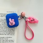 Cartoon Animal Doll Keychain for Apple Airpods Case Accessories Protective Cover blue