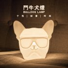 Cartoon Bulldog Shape USB Rechargeable Silicone Night Light colors