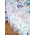 Cartoon Cars Printing Shading Window Curtain for Kids Bay Window Nursery Baby Room Photo Color_W100*H250cm yarn hook
