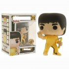 Cartoon Figure Doll Funko Pop Movies Bruce Lee Game of Death Exclusive Vinyl Figure POP 219# yellow