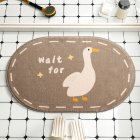 Cartoon Floor Mats Absorbent Quick Dry Foot Mat Rug for Bathroom Bedroom 40*60cm Goose